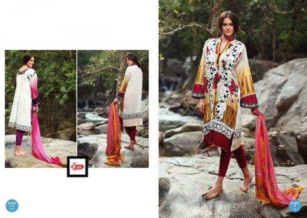 LSM Fabrics Summer Lawn Dress Collection 2014-2015 For Women (4)