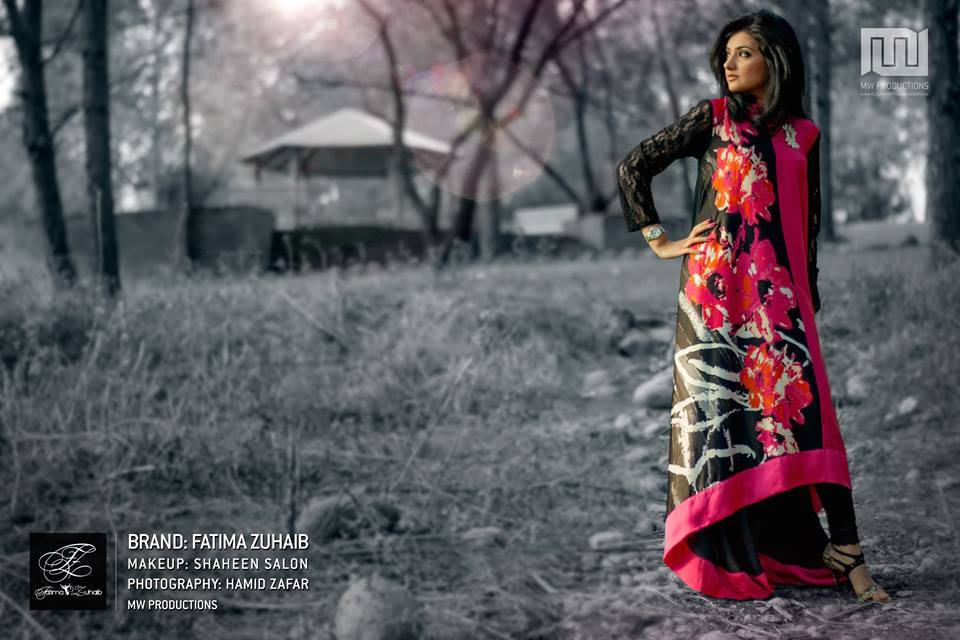 Latest Stylish Summer Dresses 2014 For Women By Fatima Zuhaib (1)