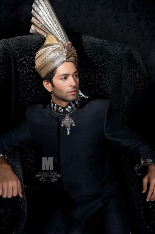 M by Salman Shah Menswear Summer Sherwanis 2014 for Grooms 2