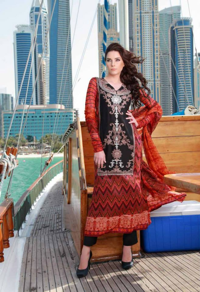 New Shariq Textiles Feminine Collection 2014 for Women 3