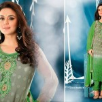 Preity Zinta Wearing Spring 2014 Collection by Saheli Couture 1