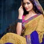 Prerna Poly Georgette Sarees Collection 2014 for Women
