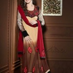 Rang - Designer semi stitched Anarkali suits. 10