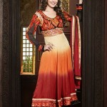 Rang - Designer semi stitched Anarkali suits. 11