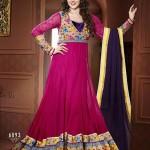 Rang - Designer semi stitched Anarkali suits. 12
