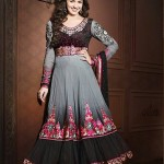 Rang - Designer semi stitched Anarkali suits. 13e