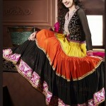 Rang - Designer semi stitched Anarkali suits. 14