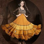 Rang - Designer semi stitched Anarkali suits.