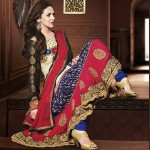Rang - Designer semi stitched Anarkali suits. 3