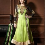 Rang - Designer semi stitched Anarkali suits. 5