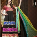 Rang - Designer semi stitched Anarkali suits. 6