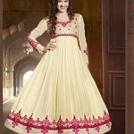 Rang - Designer semi stitched Anarkali suits. 7