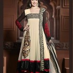 Rang - Designer semi stitched Anarkali suits. 8