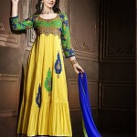 Rang - Designer semi stitched Anarkali suits. 9