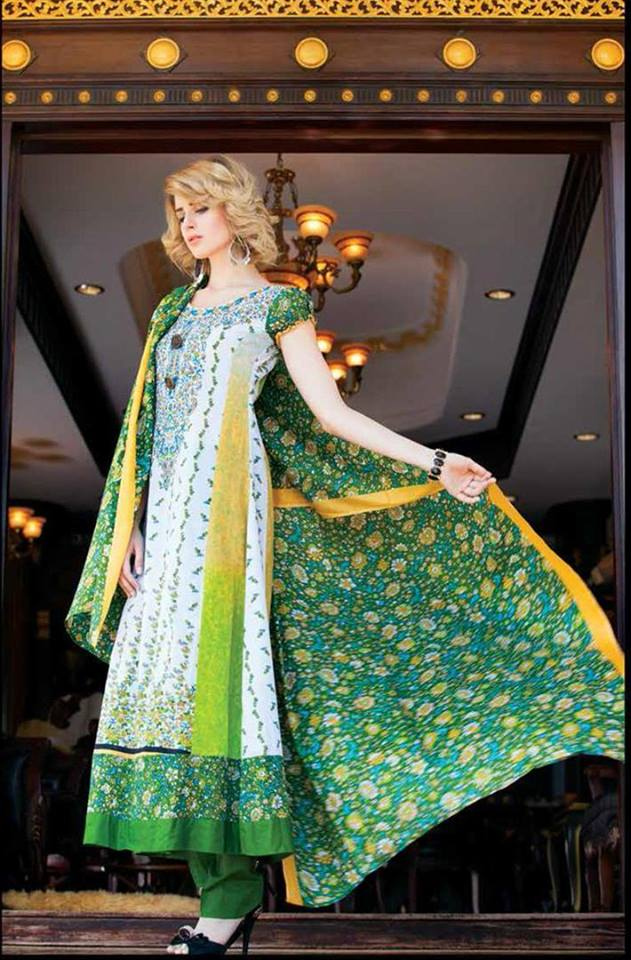 Riwaj Exclusive Party Wear Lawn Collection 2014 for Women 4
