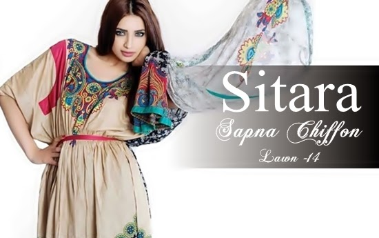 Sapna Chiffon Lawn Party Wear Collection 2014-2015 For Women (1)