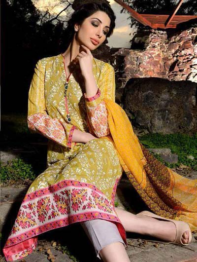 Sobia Nazir embroidered lawn collection 2014 3