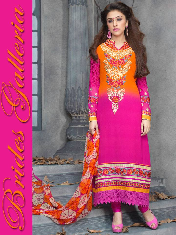 Stunning Faux Georgette Suits. collection 2014 7