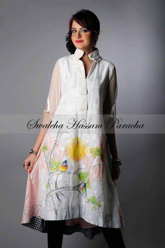 Swaleha Hassam Paracha Party Dresses 2014 For Girls