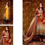 Unique Crinkle Chiffon Lawn Collection 2014 Vol-1 By Ajwa Textile. 1