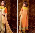 Unique Crinkle Chiffon Lawn Collection 2014 Vol-1 By Ajwa Textile. 10