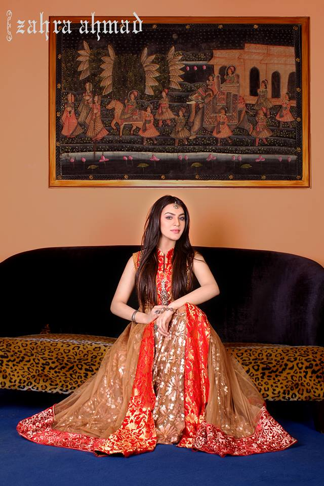Zahra Ahmad Ready to Wear Summer Party Dresses 2014 5