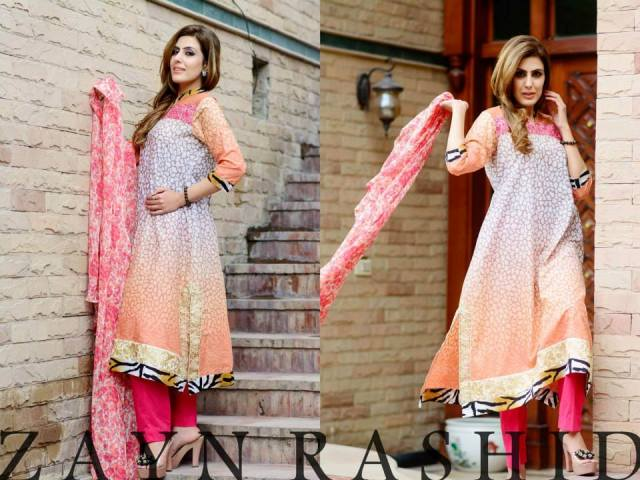 Zayn Rashid Summer Lawn Prints 2014 For Women (1)