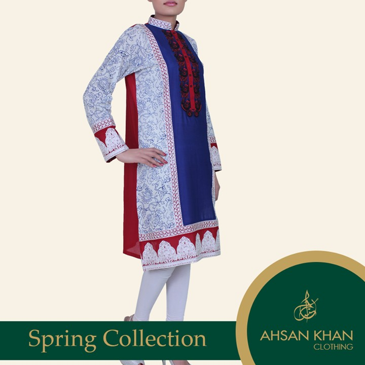 Ahsan Khan Spring Summer Dresses 2014 for Ladies 3