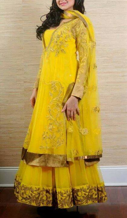 Bridal mehndi dresses collection 2014 1