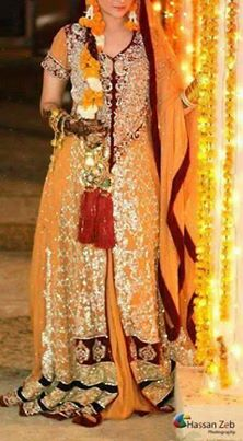 Bridal mehndi dresses collection 2014 4