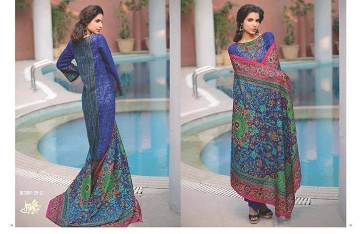 Five Star Textiles Divine Lawn Dresses 2014 for Women 3
