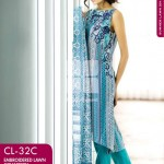Gul Ahmed Embroidered Lawn Dresses 2014 For Women