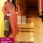 Gul Ahmed Embroidered Lawn Dresses 2014 For Women 4