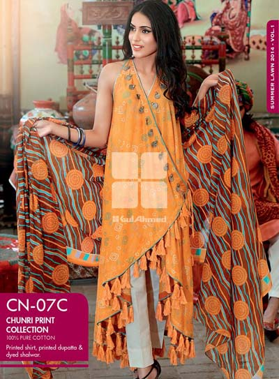 GulAhmed Chunri Collection from Normal Summer 2014  6