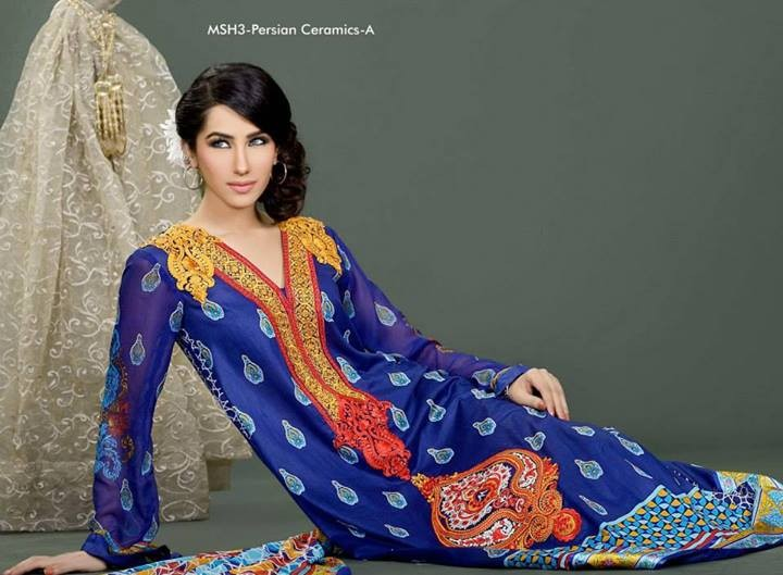 Lala Mashaal Embroidered Dresses 2014 Volume 3 1