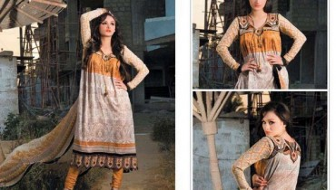 Pardesi Textile Umaimahs Embroidered Lawn Dresses 2014 For Women 5