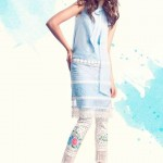 Sanam Chaudhri Summer Dresses 2014 for Women 2