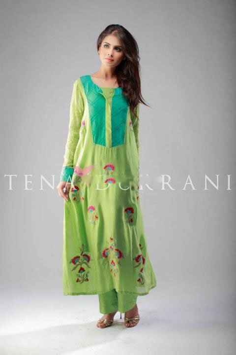 Tena Durrani Party Dresses 2014 For Summer 2