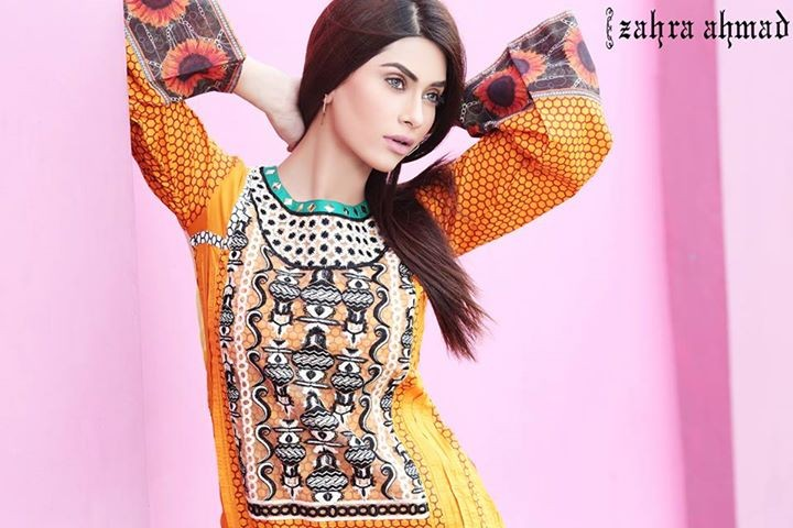 Zahra Ahmad Lawn Dresses 2014 for Women 3
