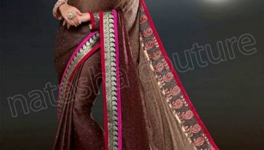 Brand New Dazzling Saree Styles 2014 For Ladies By Natasha Couture (4)