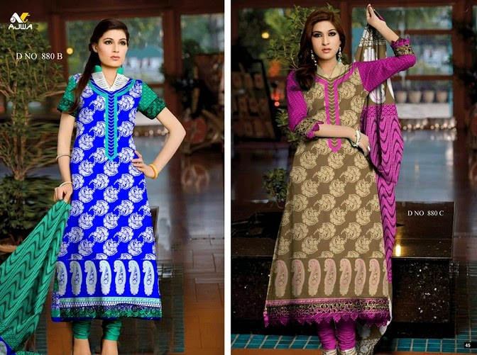 Exclusive Krinkle Chiffon vol-7 Set 2014 For Females By Ajwa (5)
