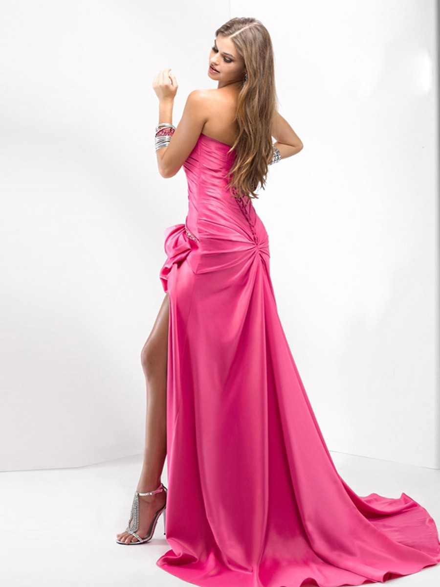 Fashionable Series of Satin Night Time Dresses (2)