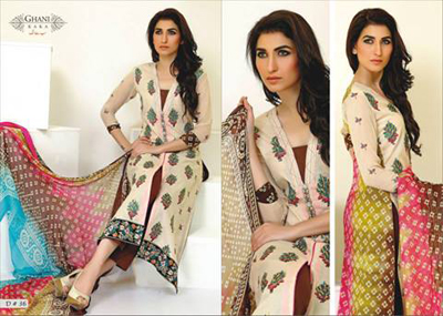 Ghani Textile summer dress collection 2014 3