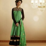Glamour Semi Stitched Anarkali Dresses Collection 2014