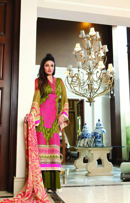 Gorgeous Eid Festival Dresses Collection 2014 by Al Zohaib Textile (6)