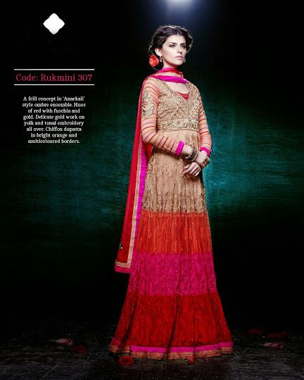 Gorgeous Semi Stiched Anarkali Collection 2014 4