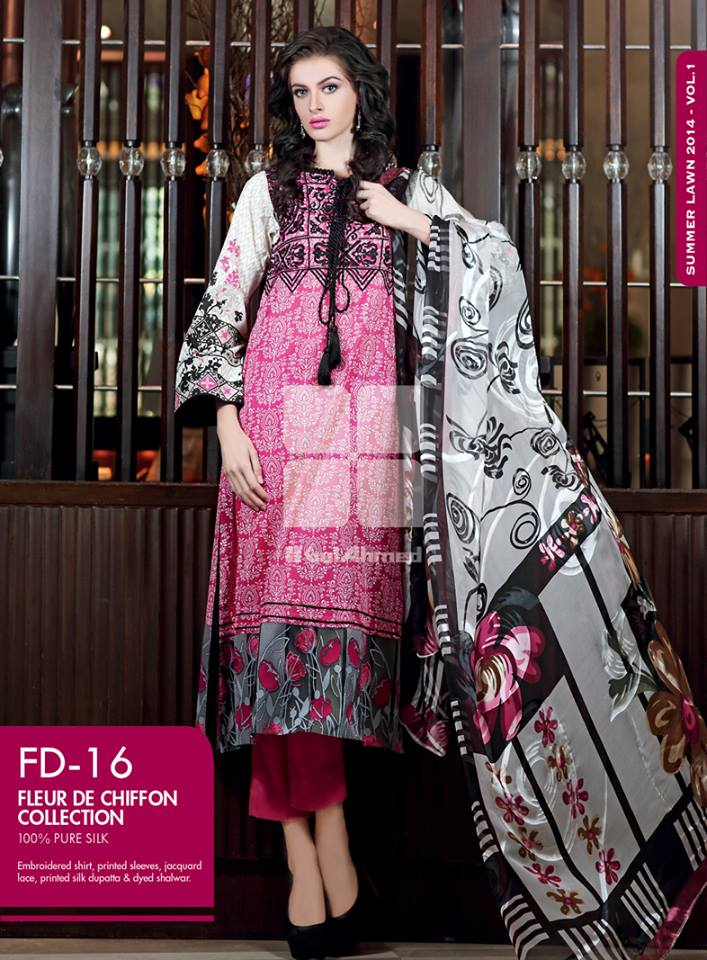 Gul Ahmed Chiffon Dresses 2014 Volume 2 (4)
