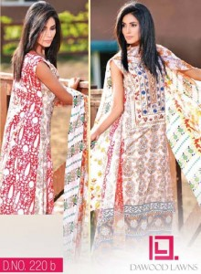 LIALI EMBROIDERED LAWN VOL. 2 BY DAWOOD 2014 `13