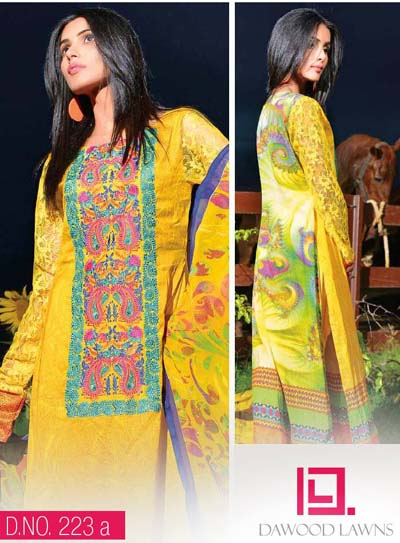 LIALI EMBROIDERED LAWN VOL. 2 BY DAWOOD 2014  18