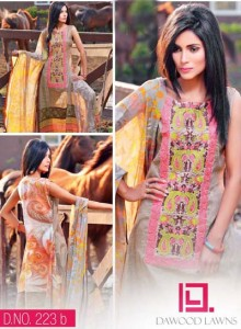 LIALI EMBROIDERED LAWN VOL. 2 BY DAWOOD 2014 19
